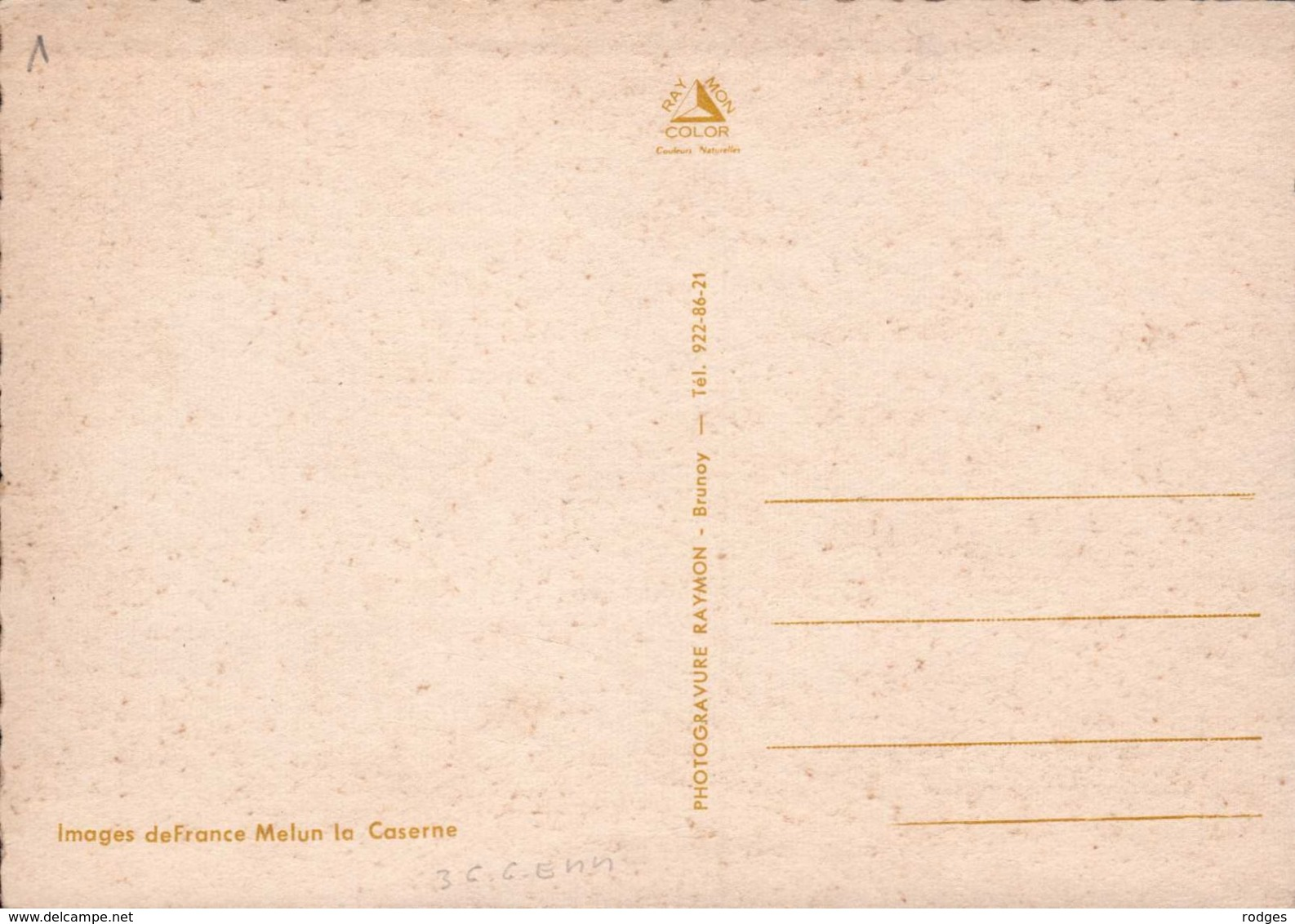 Dep 77 , Cpm MELUN , La Caserne (12577) - Melun