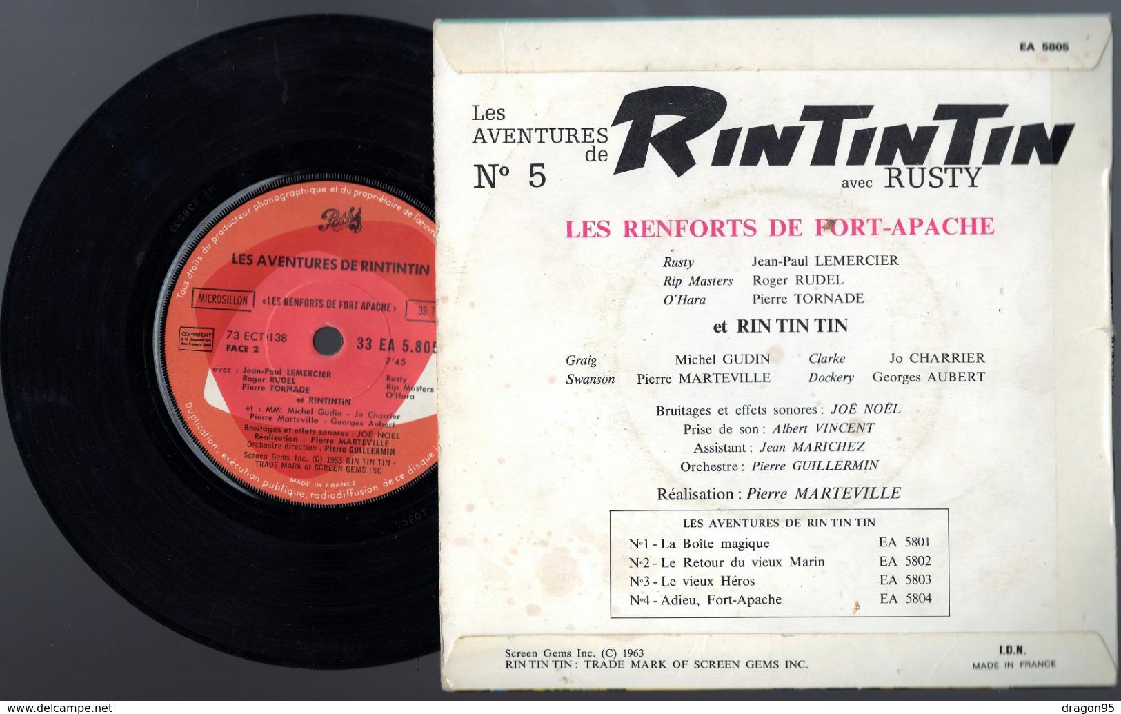 B.O. Les Aventures De Rintintin Avec Rusty N°5 - Pathé EA 5805 - 1963 - AA1 - Filmmusik