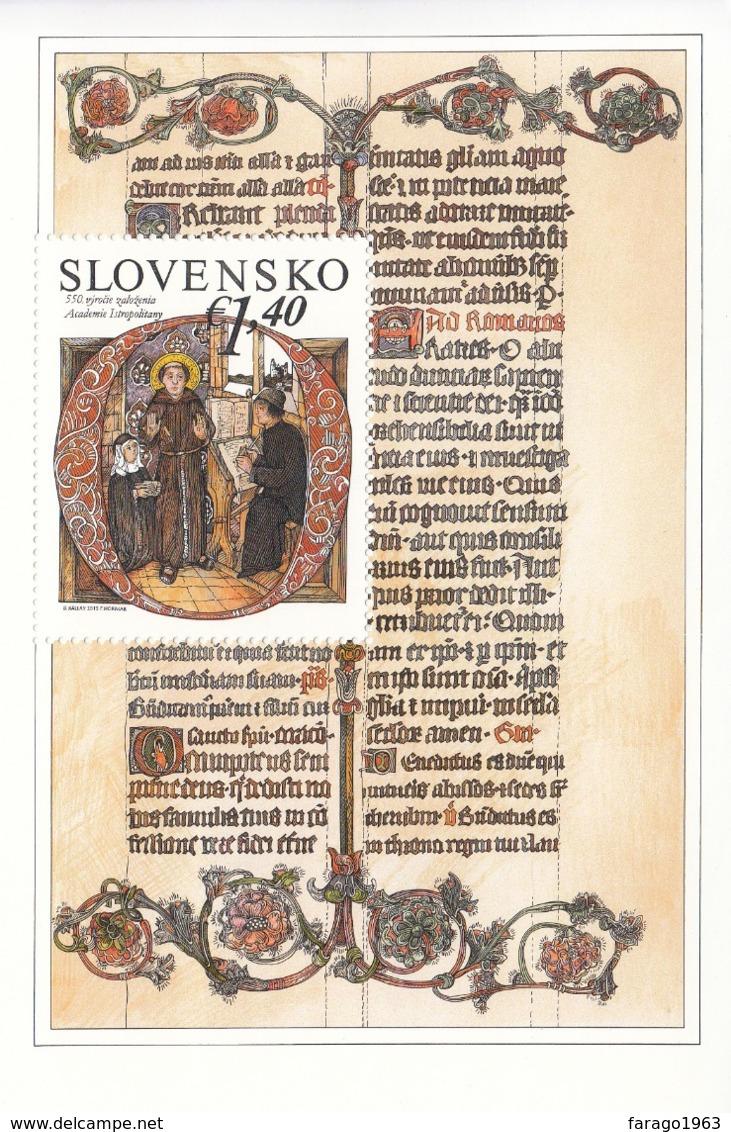 2015 Slovakia Academia Education Miniature Sheet   MNH  @ BELOW FACE VALUE - Blocks & Kleinbögen