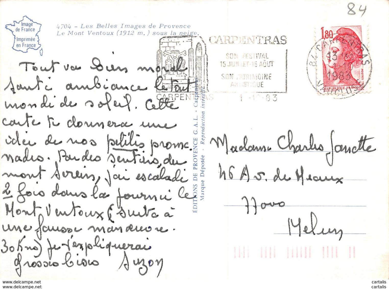 84-MONT VENTOUX-N°C-3646-C/0177 - Autres Communes