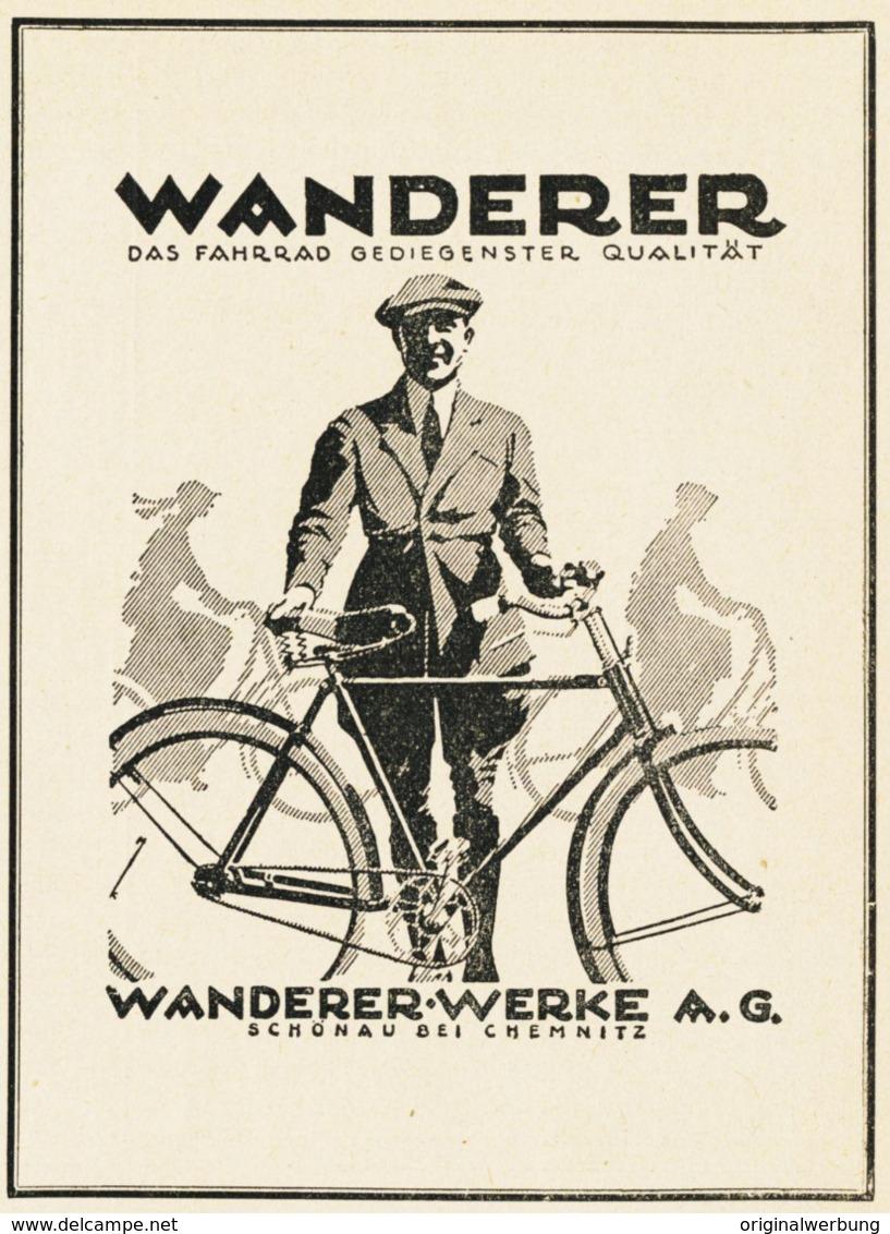 Original-Werbung/ Anzeige 1925 - WANDERER FAHRRÄDER / SCHÖNAU BEI CHEMNITZ - Ca. 90 X 115 Mm - Werbung