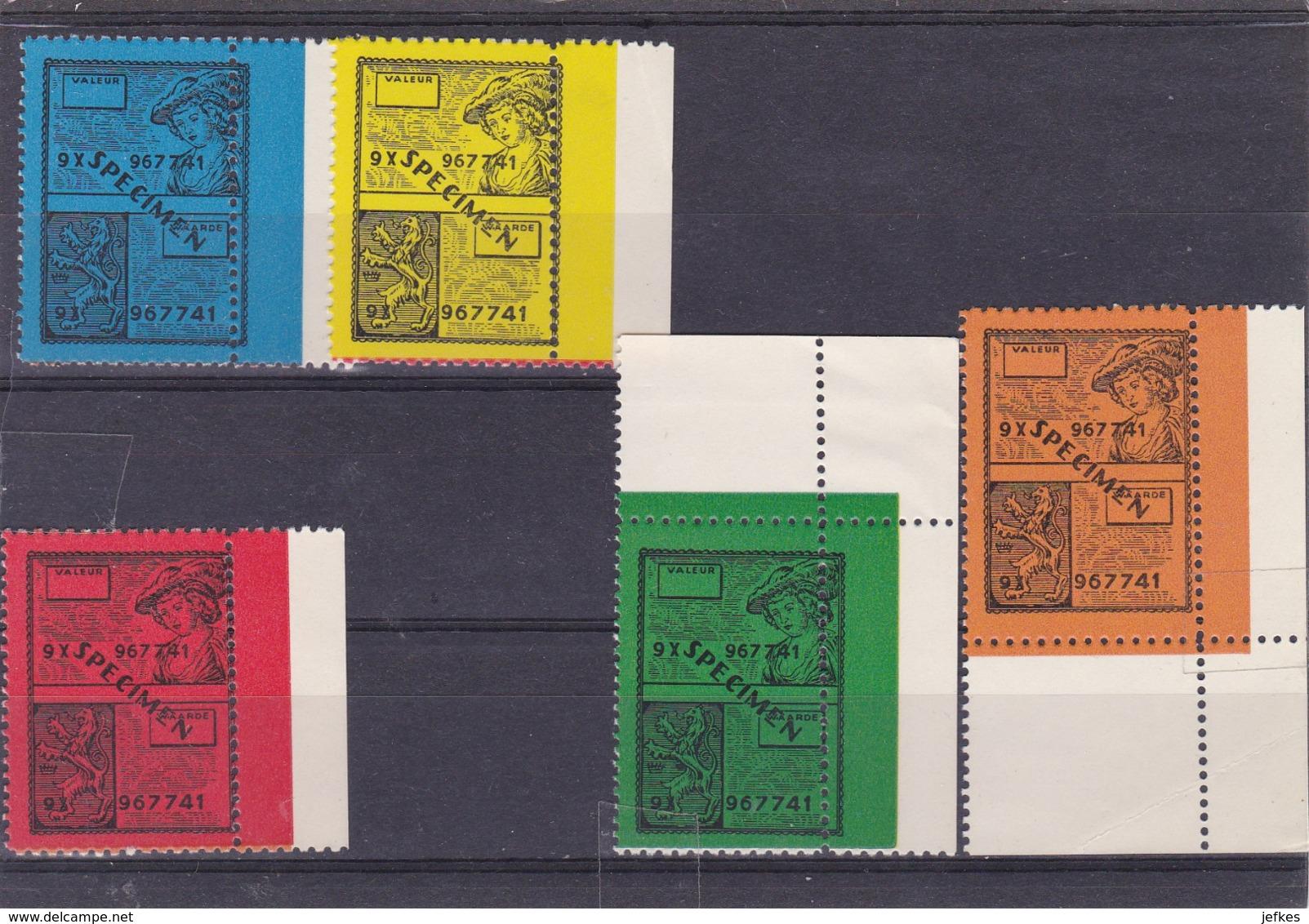 Specimen Zegels Gedrukt Voor Opleidingsdoeleinden - Revenue Stamps