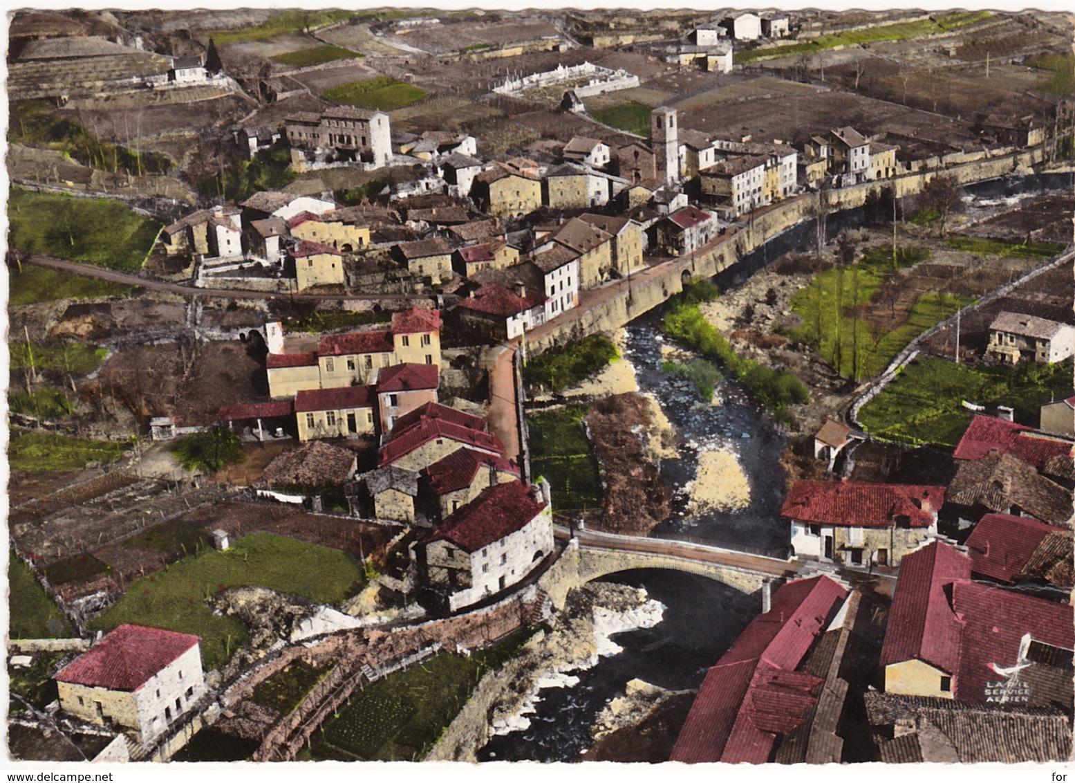Ardèche : MARIAC : Vue Aérienne - Générale Du Pont De Fromentières - ( Ed. LAPIE ) C.p.s.m. Photo Vérit. Grand Format - France
