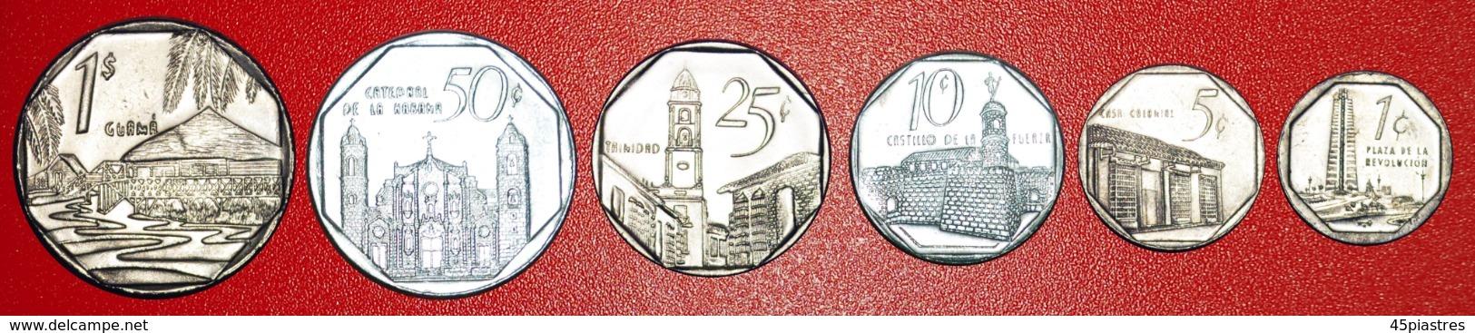 + COMPLETE EMISSION SET CONVERTIBLE PESO: CUBA ★ 1-5-10-25-50 CENTAVOS — 1 PESO 2000-2008!  LOW START ★ NO RESERVE! - Munten & Bankbiljetten