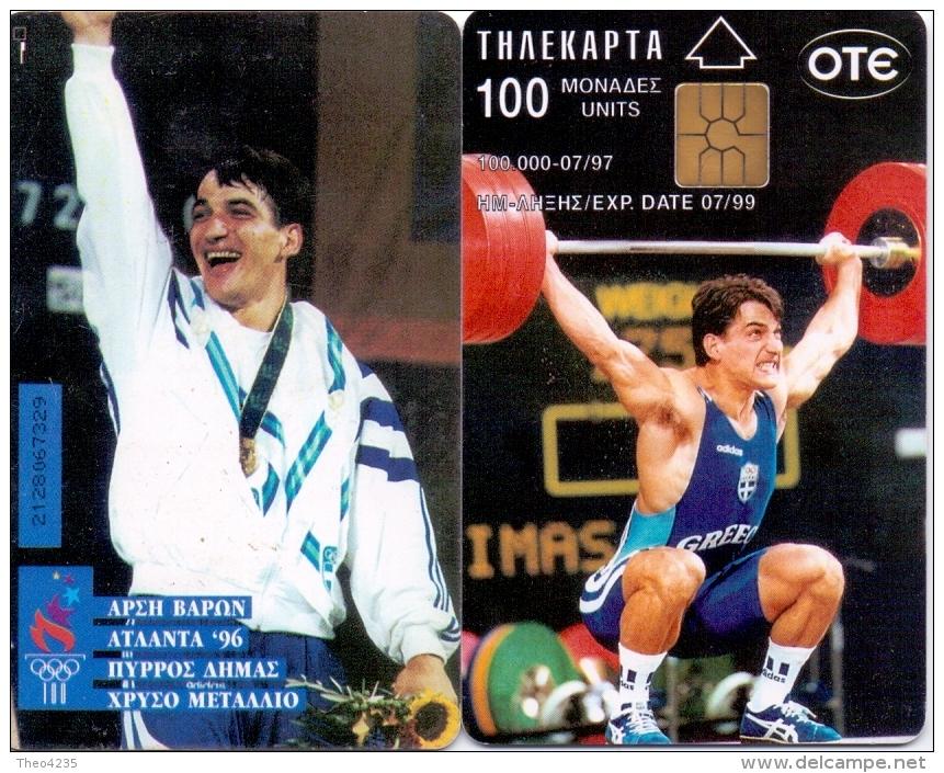 GREECE PHONECARD OLYMPIC WINNER ATLANTA 96 DIMAS  -X0350- 100000pcs-7/97-USED - Jeux Olympiques