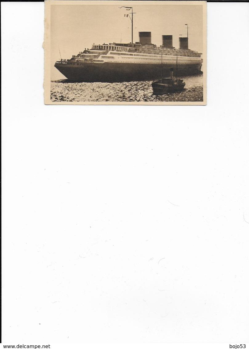 """76   - 30  LE HAVRE  Le """"Normandie""""   En Mer - Autres"""