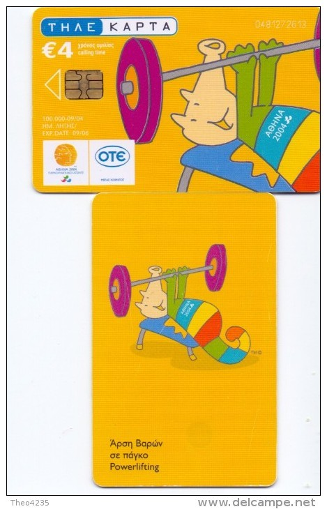 GREECE PHONECARD  PARAOLYMPICS WEIGHTLIFTING  ,X1836- 100000pcs-9/04-USED - Jeux Olympiques
