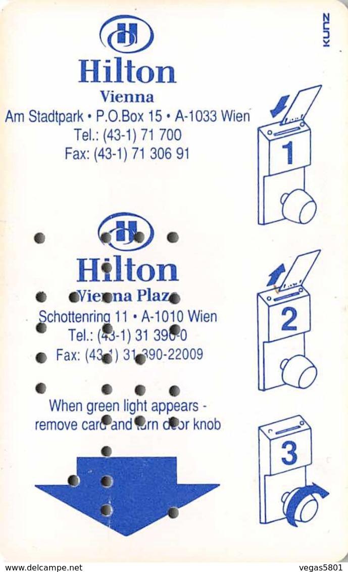 HILTON VIENNA - Hotel Room Key Card, Hotelkarte, Schlüsselkarte, Clé De L'Hôtel - Hotelkarten
