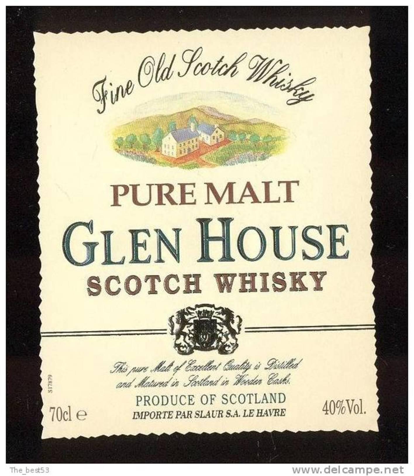 Etiquette De Scotch  Whisky  -  Glen House  -  Ecosse - Whisky