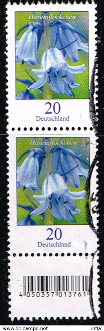 Bund 2017, Michel# 3315 R O Blumen: Winterling Mit EAN-Code Und Nr. 245 - Roller Precancels