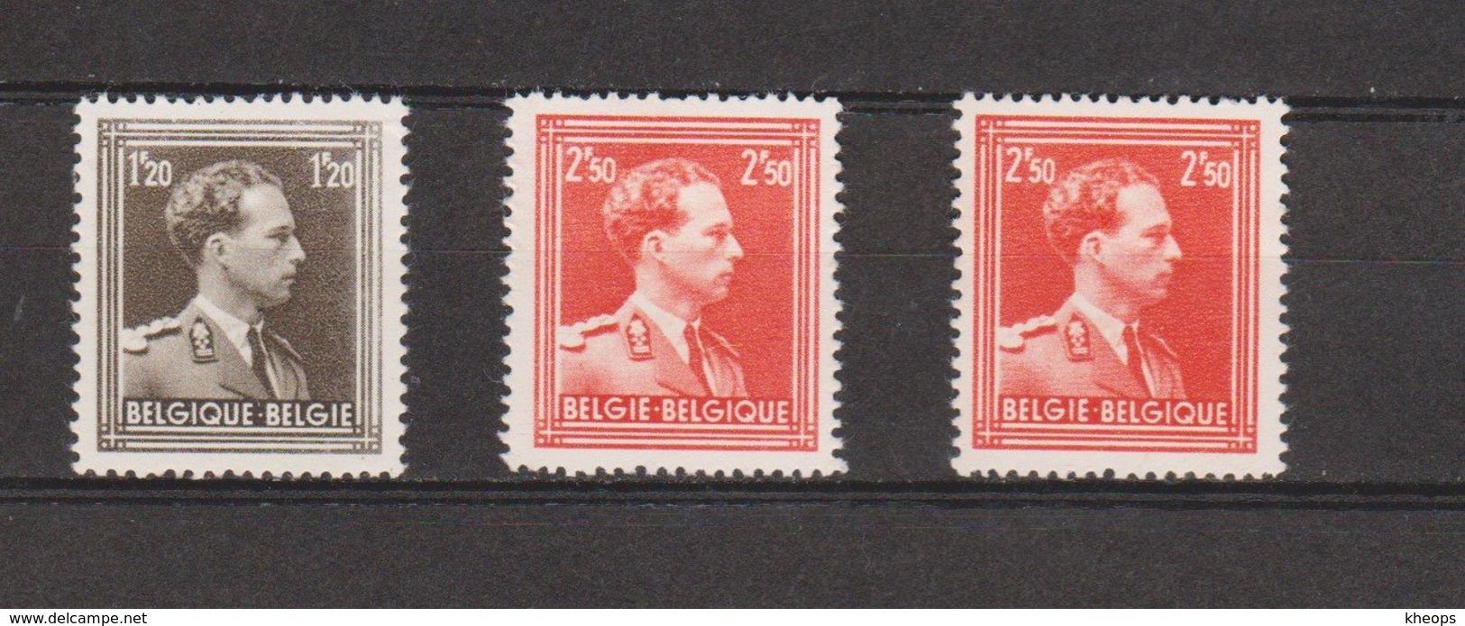 Belgique 845/46** + 846a** - Bélgica
