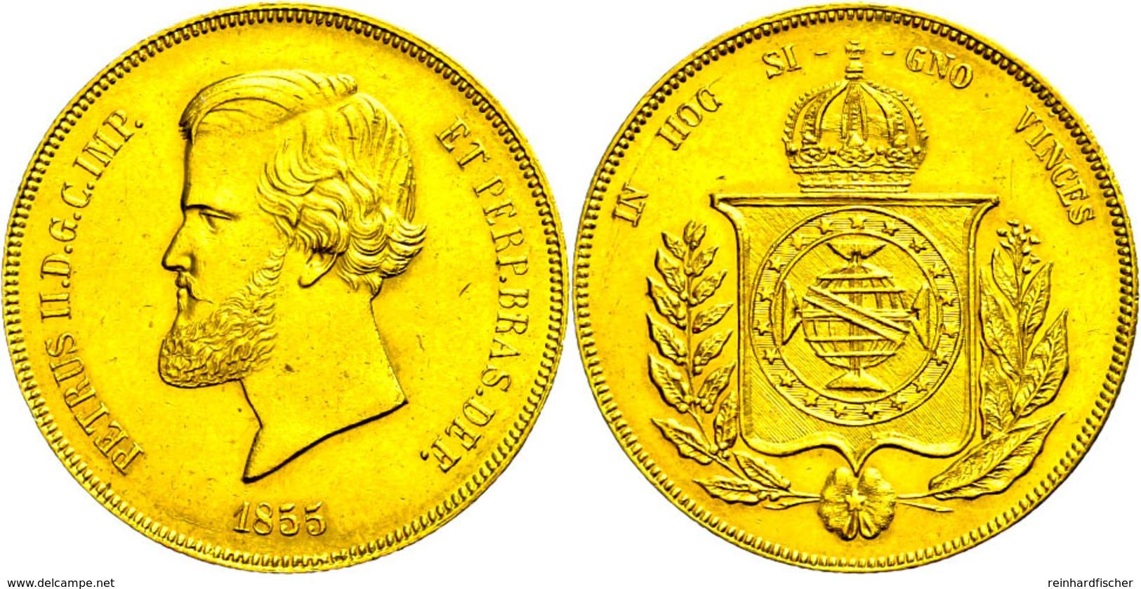 20000 Reis, Gold, 1855, Pedro II., Rio De Janeiro, Fb. 121, Vz  Vz - Brasilien