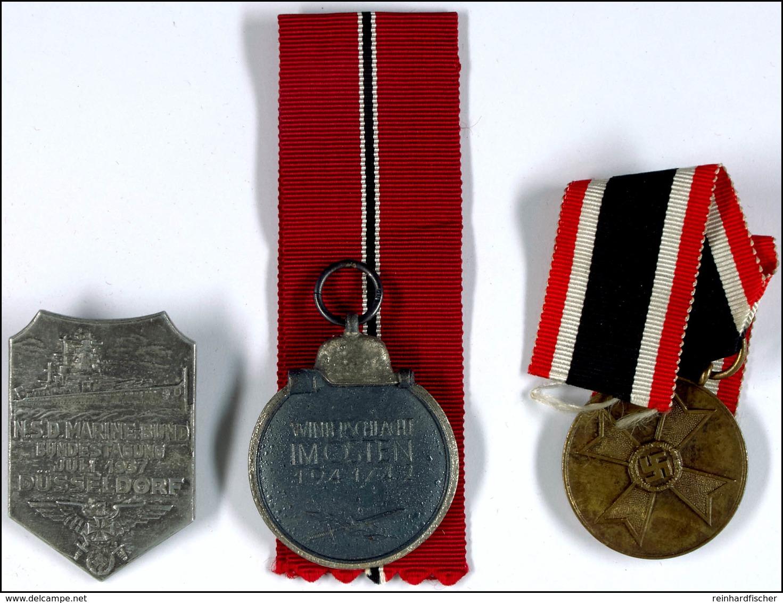 Kriegsverdienstmedaille (1940-1945) Mit Band OEK 3837, Medaille Winterschlacht Im Osten 1941/42 Mit Band OEK 3850 Und Ta - Sonstige