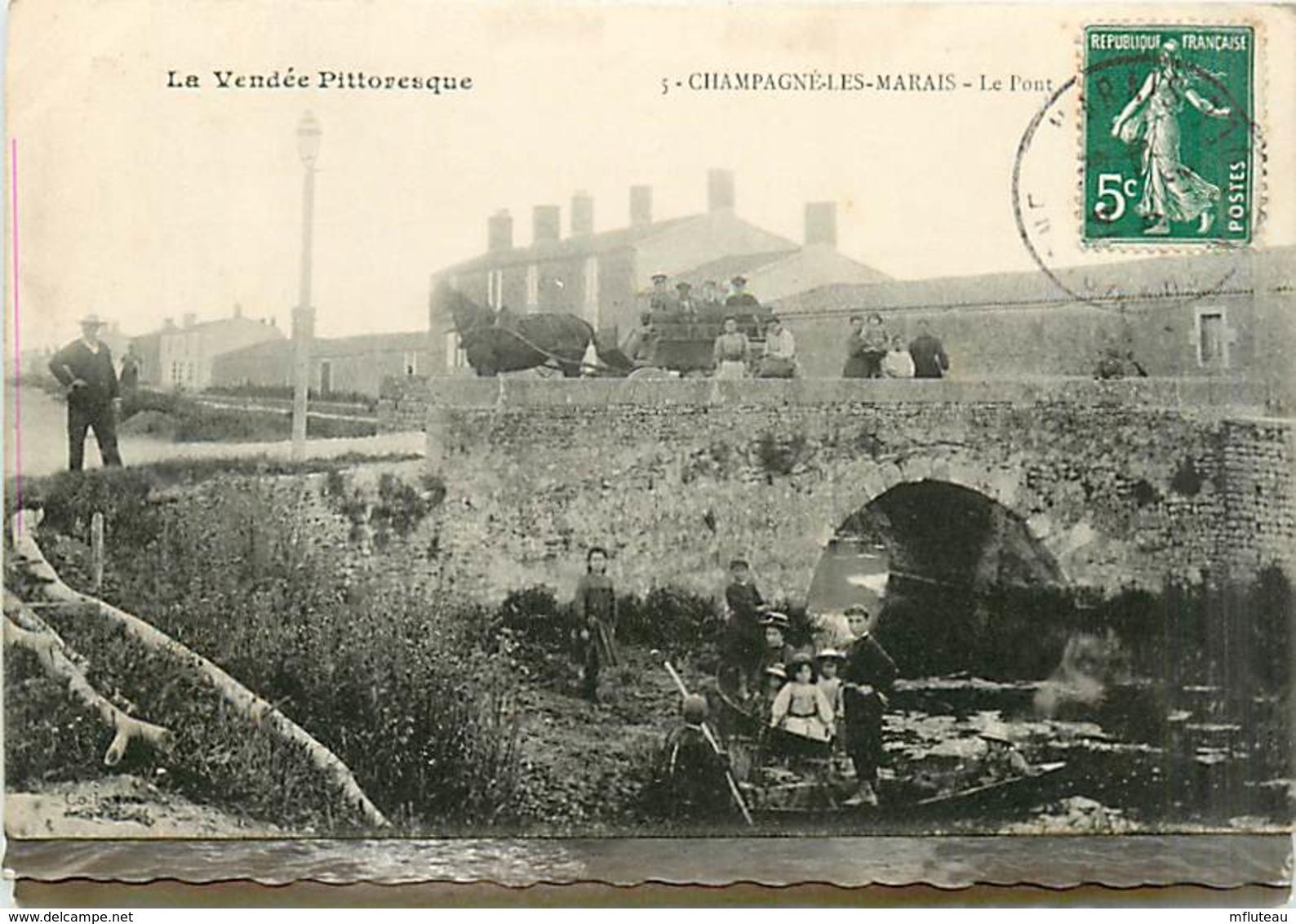 85* CHAMPAGNE LES MARAIS Pont                   MA97,0624 - France