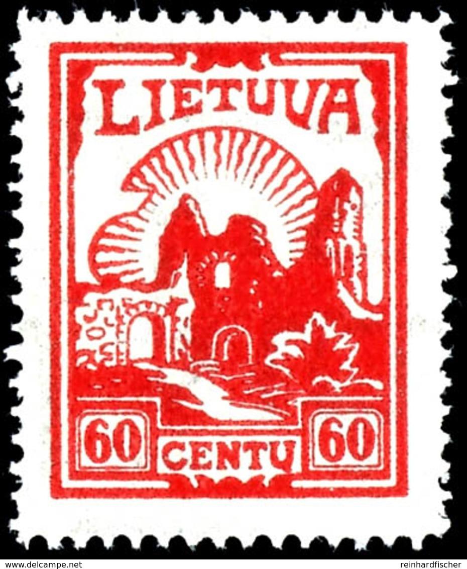 1933. 2 - 60 C. Freimarken Mit Wasserzeichen 7, Kpl. Postfrisch, Mi.220,-, Katalog: 380/84 ** - Litauen