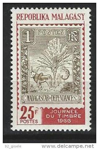 "Madagascar YT 422 "" Journée Du Timbre "" 1966 Neuf** - Madagascar (1960-...)"