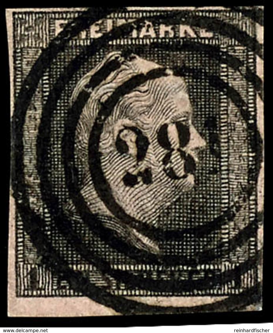 """""""281"""" - Deutsch-Crone (Reg.-Bez. Marienwerder), Klar Und Zentrisch Auf Kabinettstück 1 Sgr. Schwarz Auf Rosa, Katalog: 2 - Preussen"""