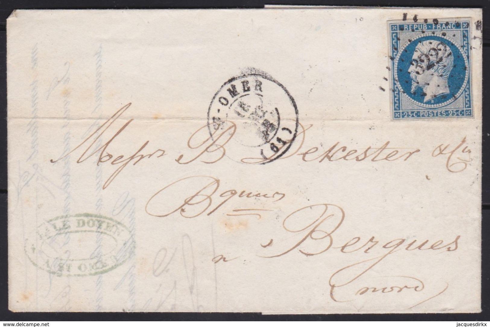 France        .    Yvert    .    10   Sur Lettre   (2 Scans)     .         O      .      Oblitéré - 1852 Louis-Napoléon