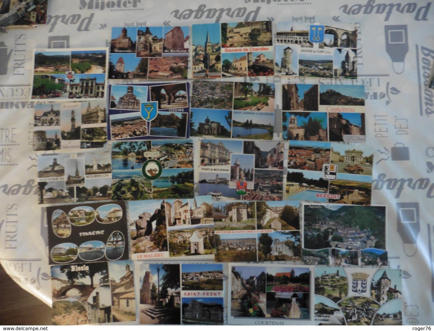 LOT  DE 55   CARTES  POSTALES    MULTIVUES    DE  FRANCE - 5 - 99 Cartes
