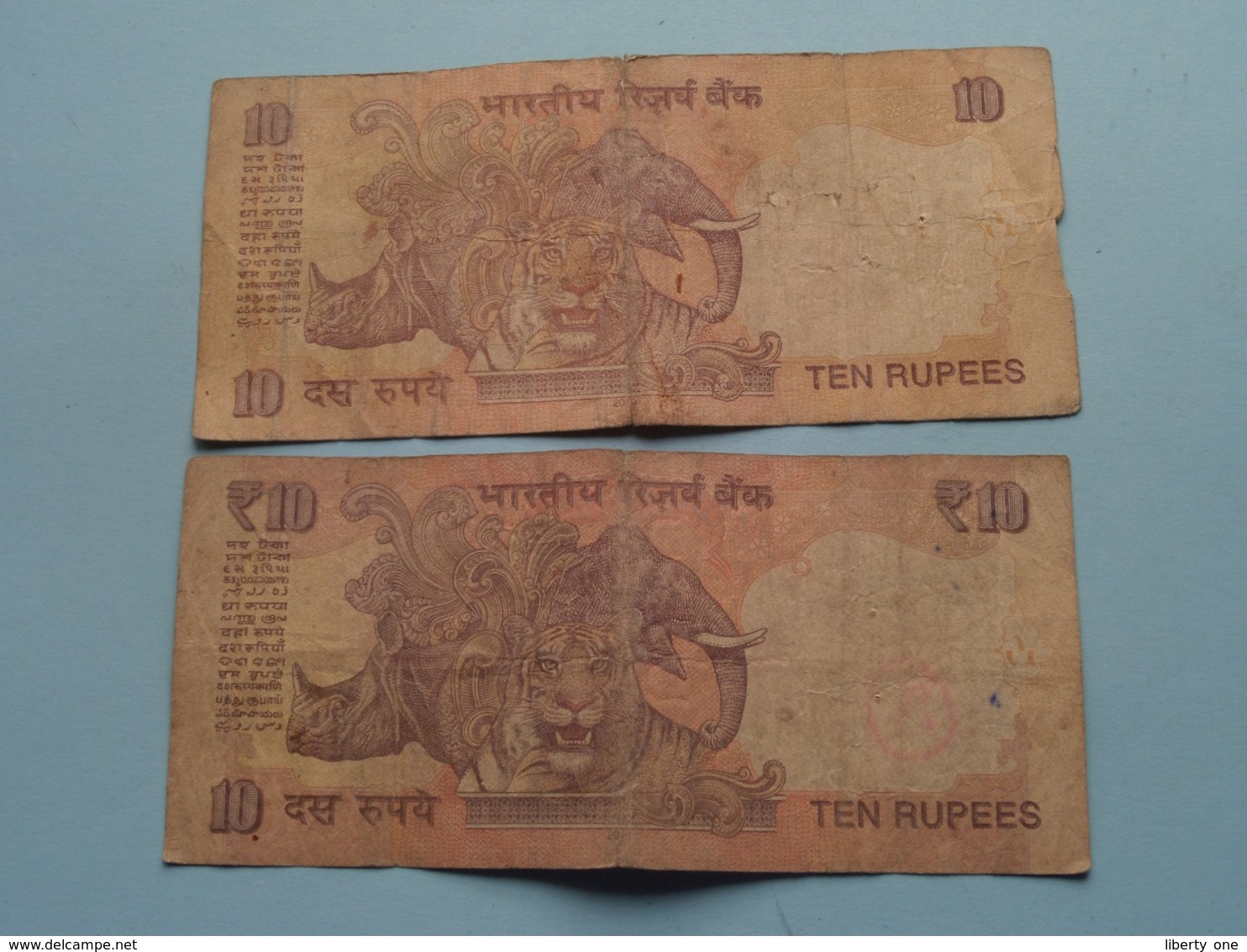 10 ( Ten ) RUPEES : 66E 502270 & 57H 576654 ( Reserve Bank Of India ) ! - Inde
