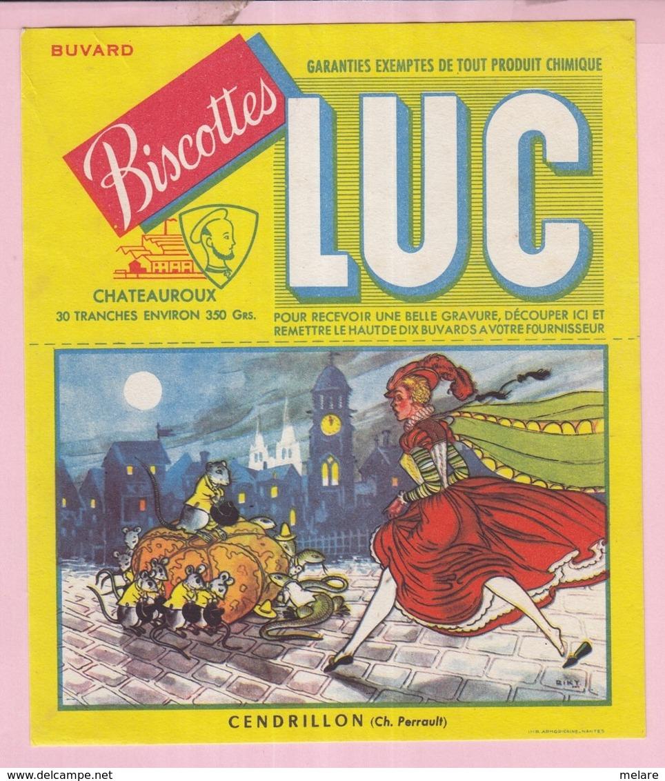 Buvard Biscottes LUC Chateauroux  Conte Cendrillon  19 - Biscottes