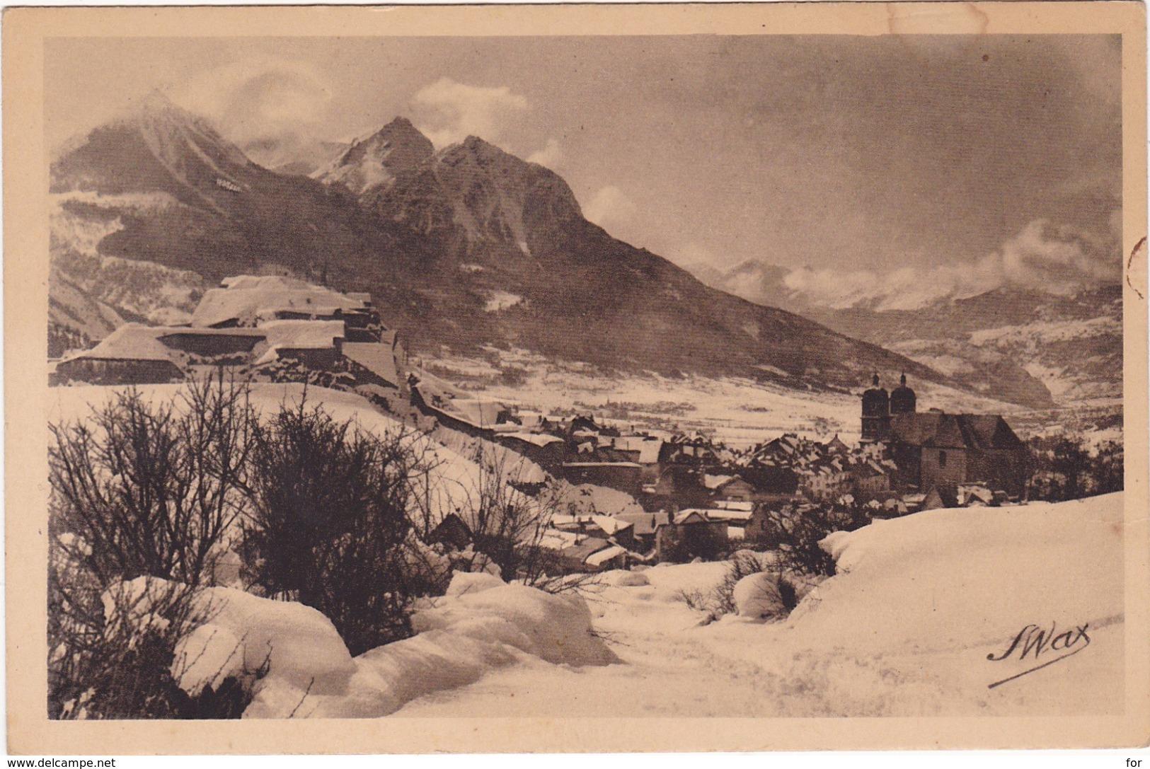 Hautes Alpes : BRIANCON : L'hiver - Vue Générale - Briancon