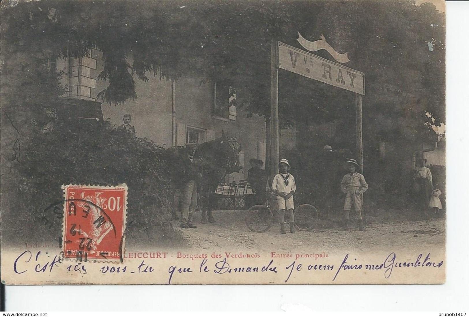 BALEICOURT   Bosquets Des Verdunois  Entree Principale 1912 - Other Municipalities