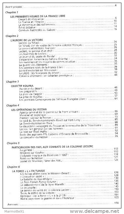 ODYSSEE COLONNE LECLERC FFL AFRIQUE TCHAD SAHARA MOURZOUK KOUFRA FEZZAN TUNISIE - 1939-45