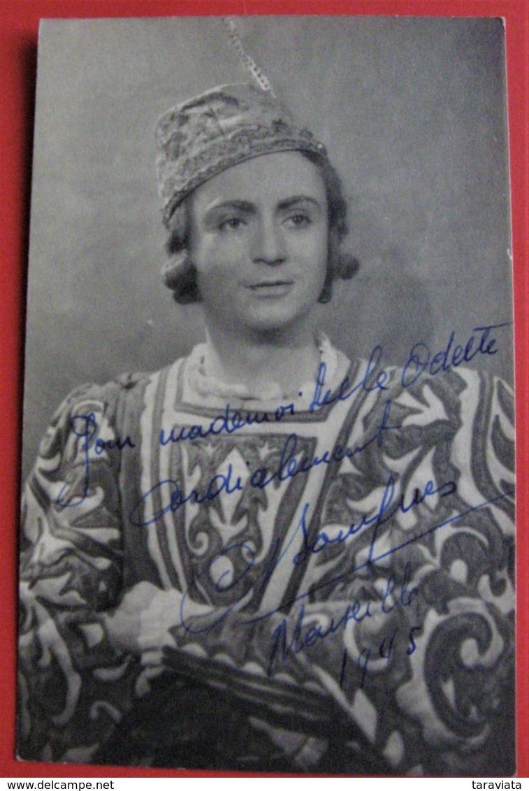A DÉCHIFFRER  - Avec AUTOGRAPHE 1905 - ARTISTE  MARSEILLE FRANCE - CARTE PHOTO - Künstler