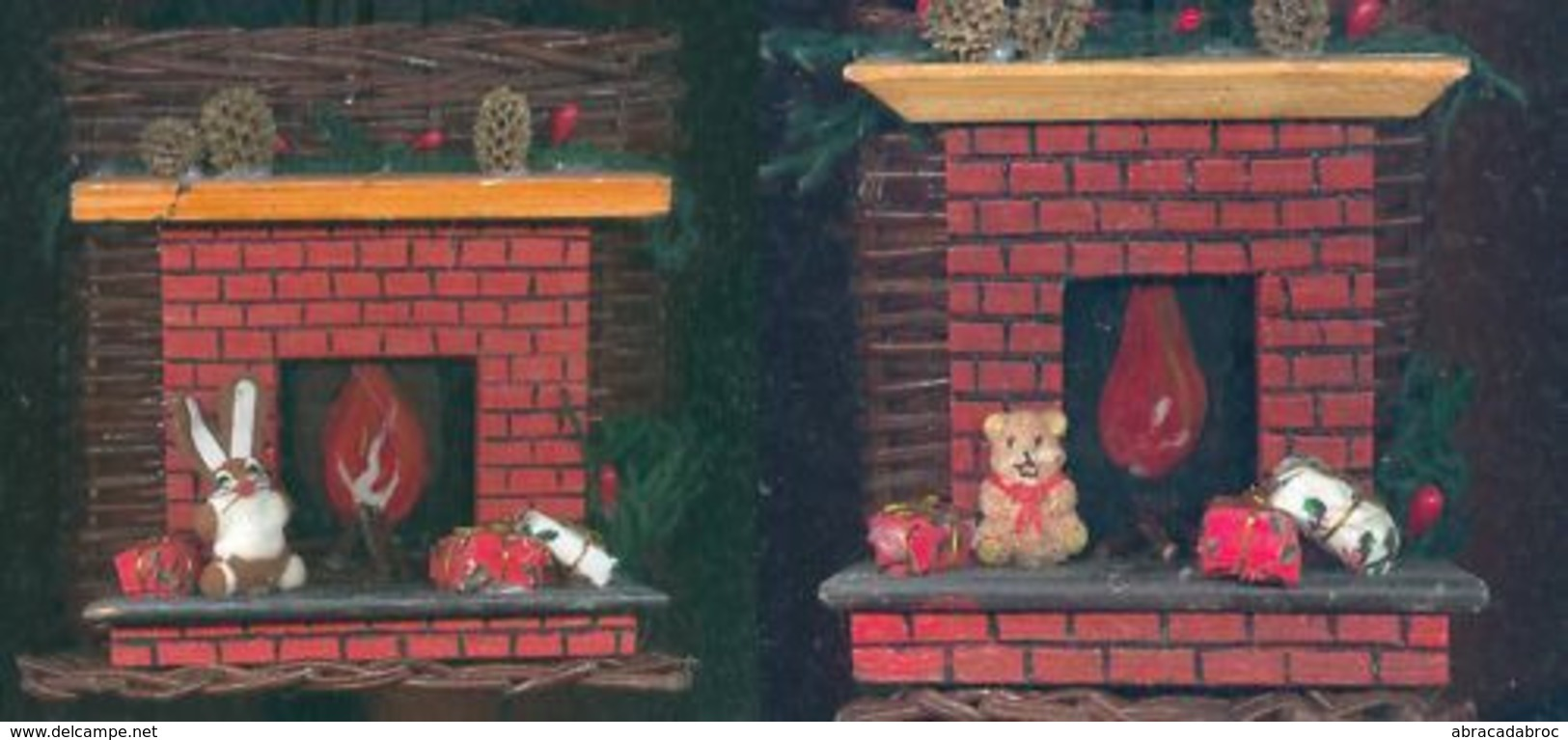 Lot 2 Paniers Pour Decoration Fetes Noel Ou Plantes Etat Neuf Noel - Kerstversiering
