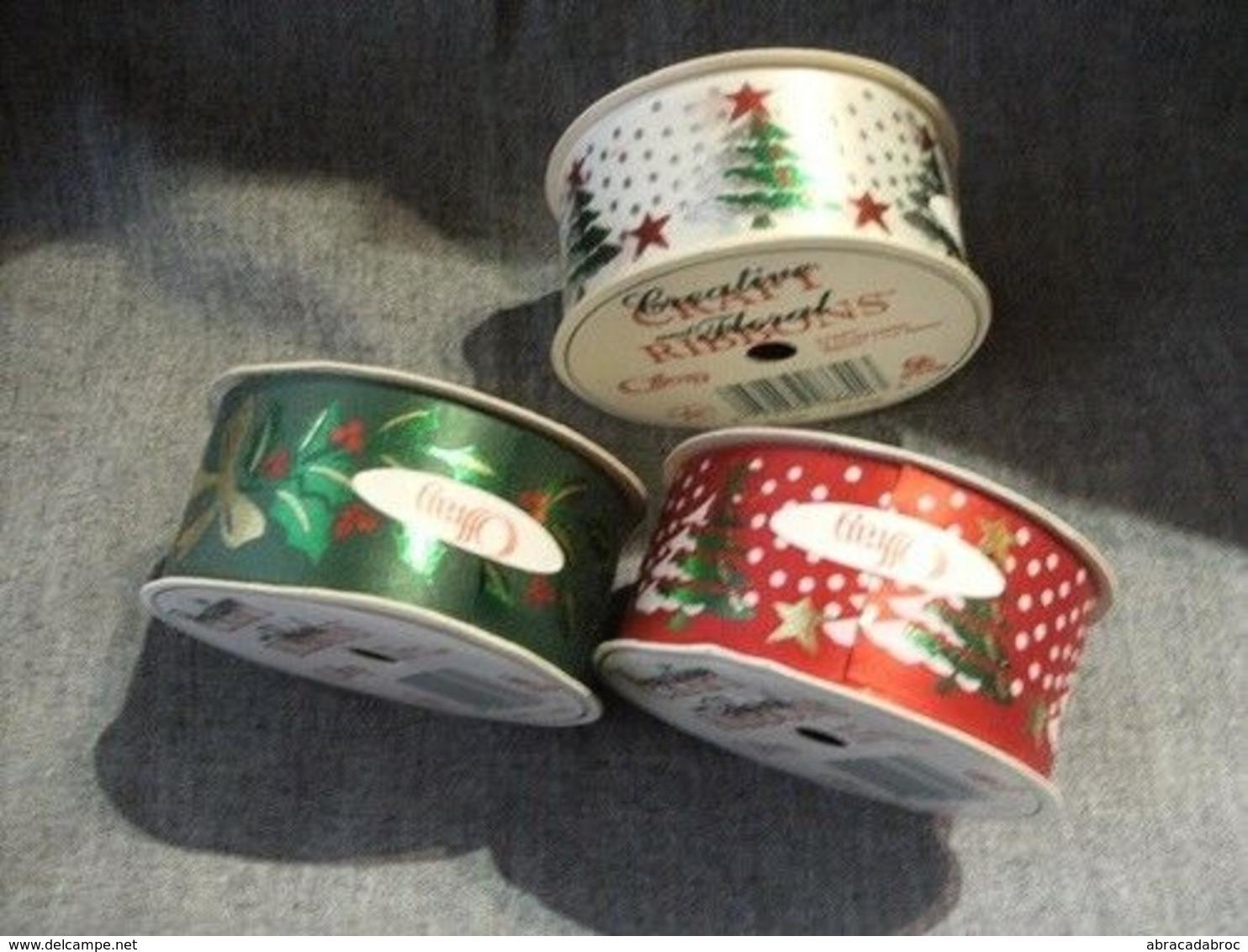Produits Rubans Decorations Pour Fetes - Noel - Etat Neuf - Kerstversiering