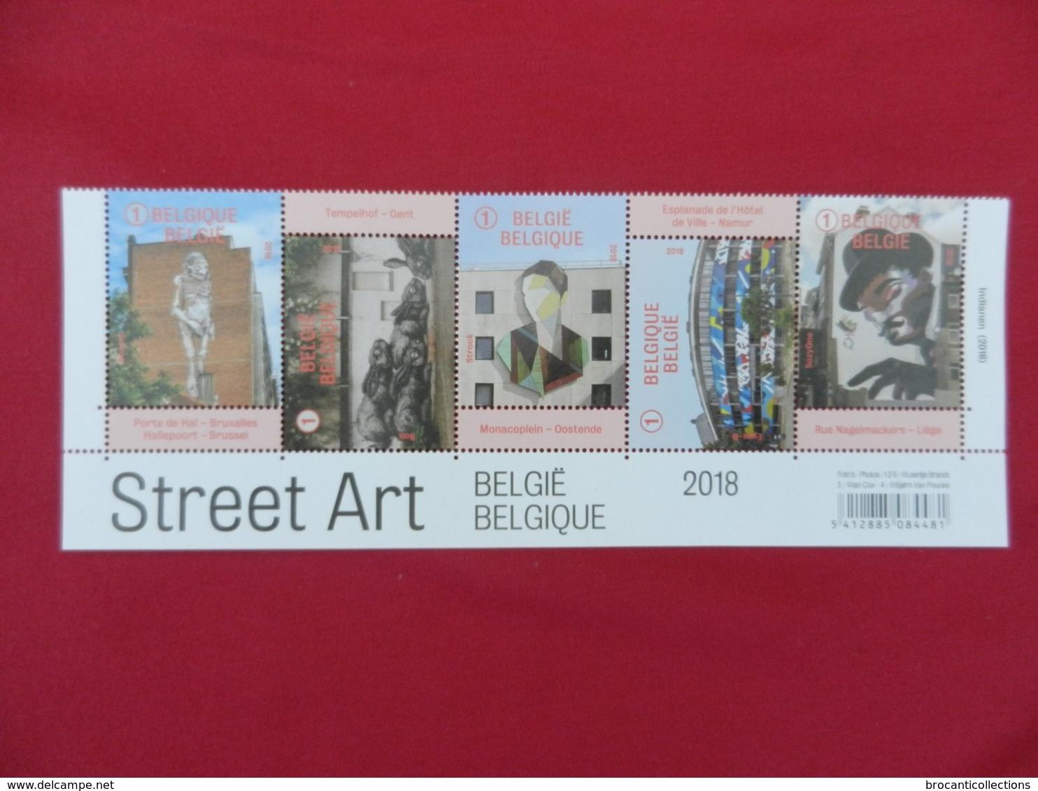 Planche De Timbres Neufs Belgique - Street Art - 2018 - Feuillets