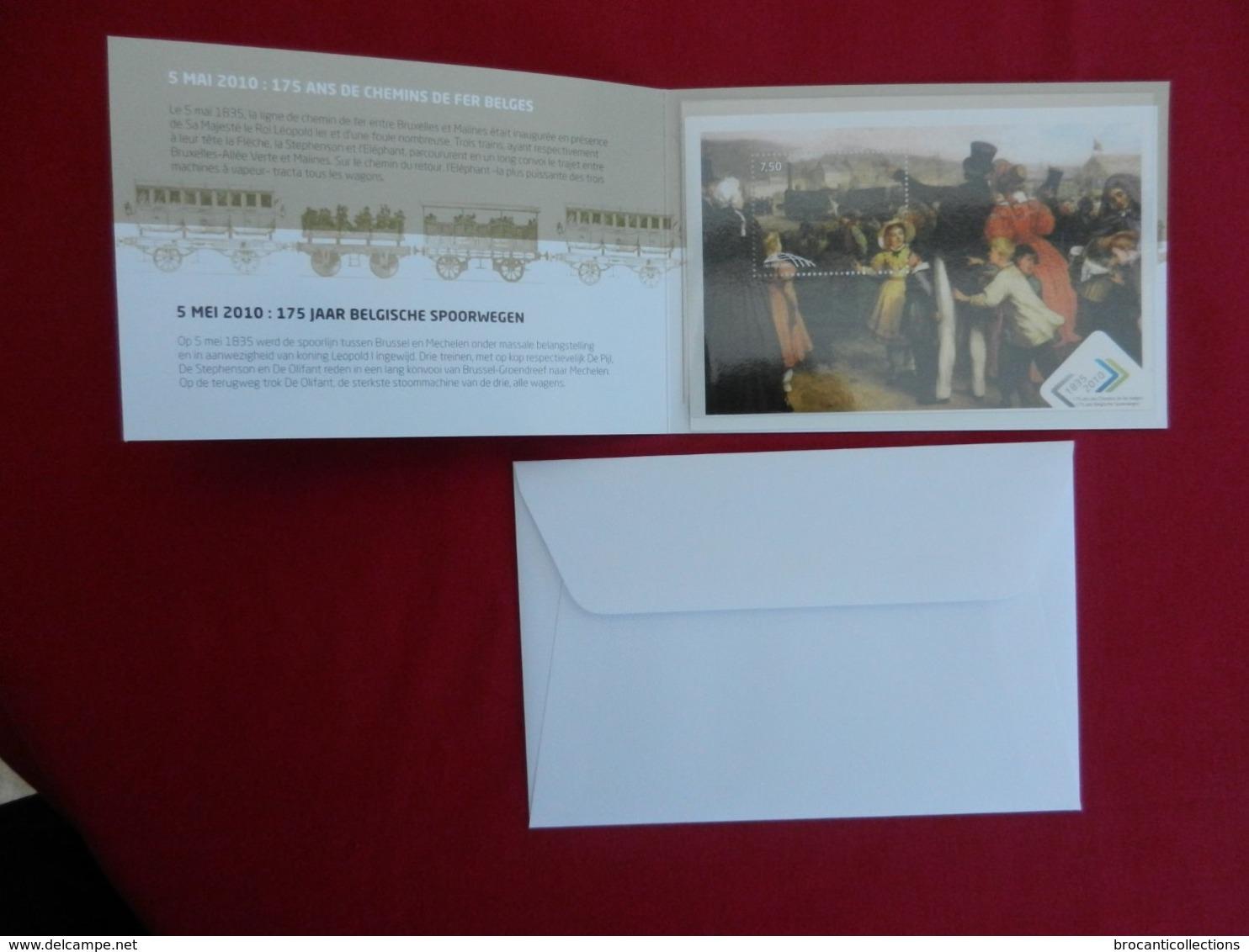 Carte Philatélique + Enveloppe - 175 Ans Des Chemins De Fer Belges -  1835-2010 - Autres