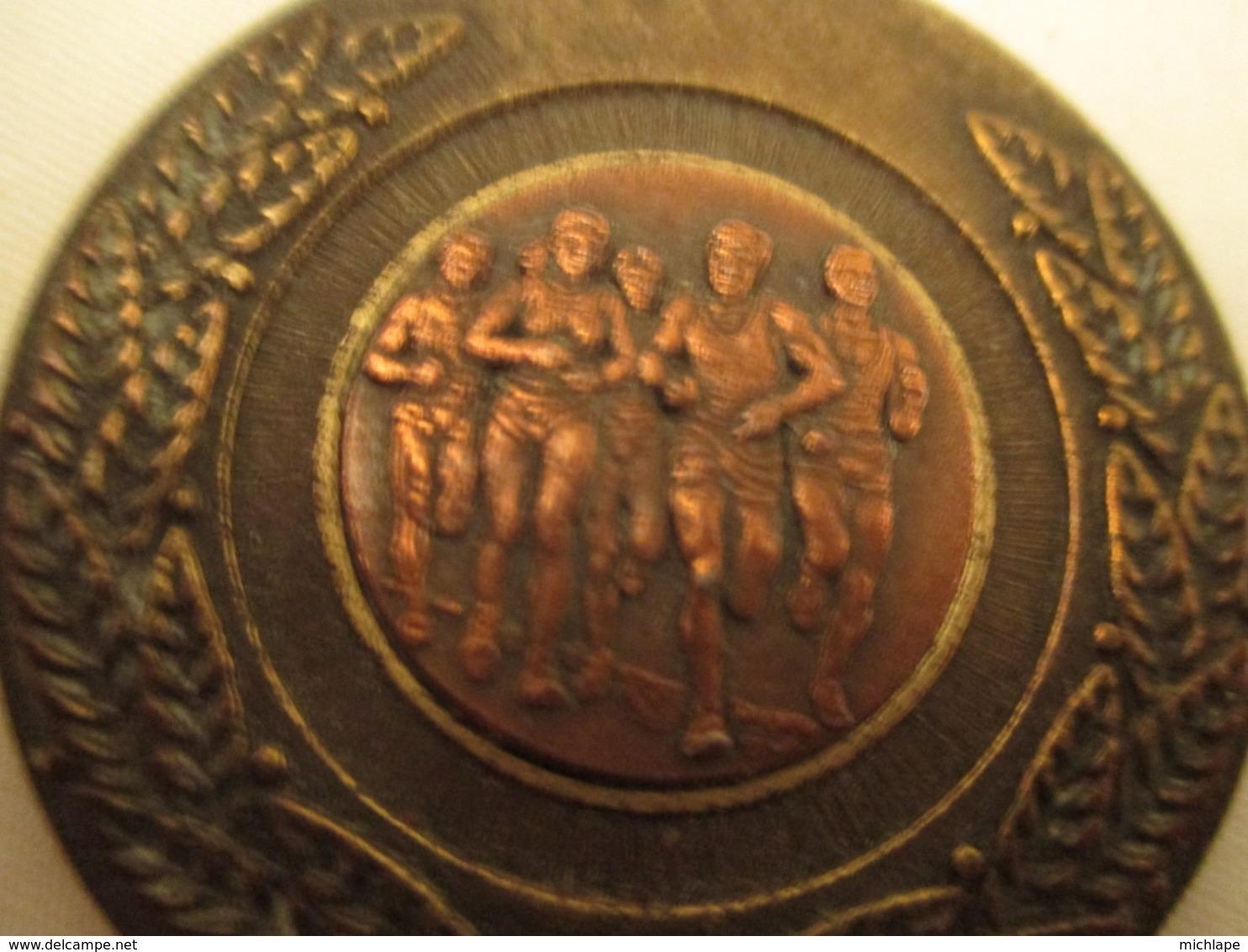 Medaille -  Bronze  - Course  A Pieds  - Diametre  50 Mm - Frankreich