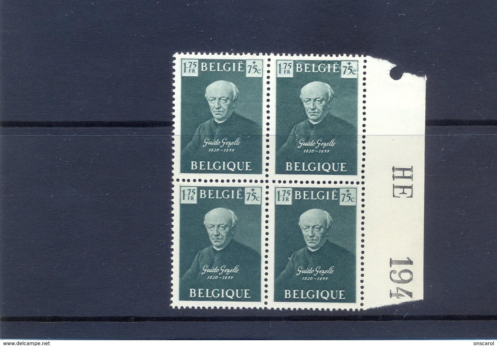 Nr.813-V1  Bliksem Door Belgiê Postgaaf ** Zeer Mooi MNH - Abarten (Katalog COB)