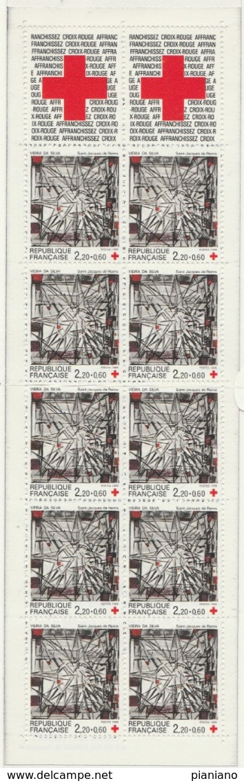 PIA - FRA - 1986 : Pro Croce Rossa - Vetrata Di Vieira Da Silva - Chiesa Di San Giacomo A Reims - Carnet - (Yv BC 2035) - Vetri & Vetrate