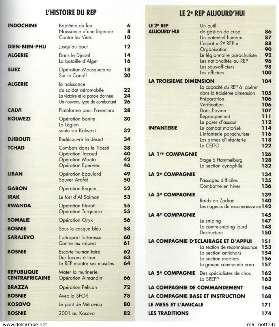 HISTORIQUE 2e REP PARACHUTISTES LEGION ETRANGERE PAR Y. DEBAY - Francese