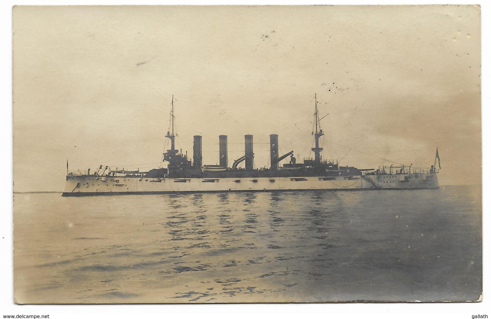 17-ROYAN-CARTE PHOTO-USS.WASHINGTON Croisseur Américain En Rade De Royan...1907 - Royan