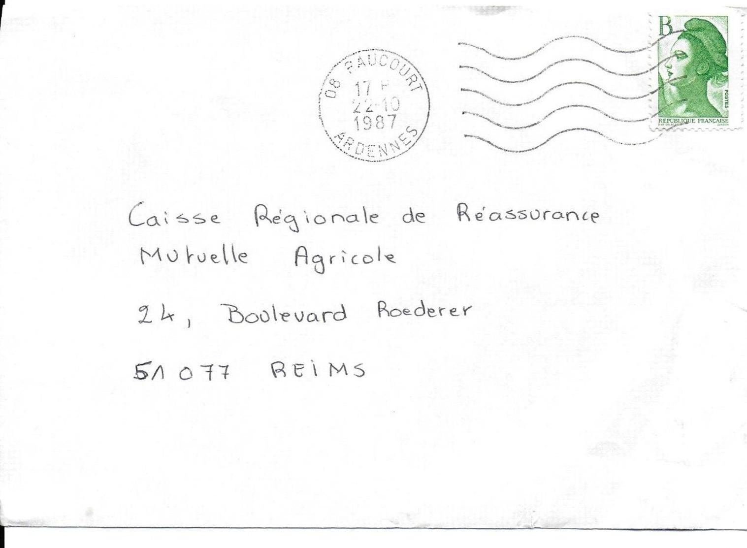 FLAMMES MUETTES ARDENNES LOT 20 ENVELOPPES FR0019 - Poststempel (Briefe)