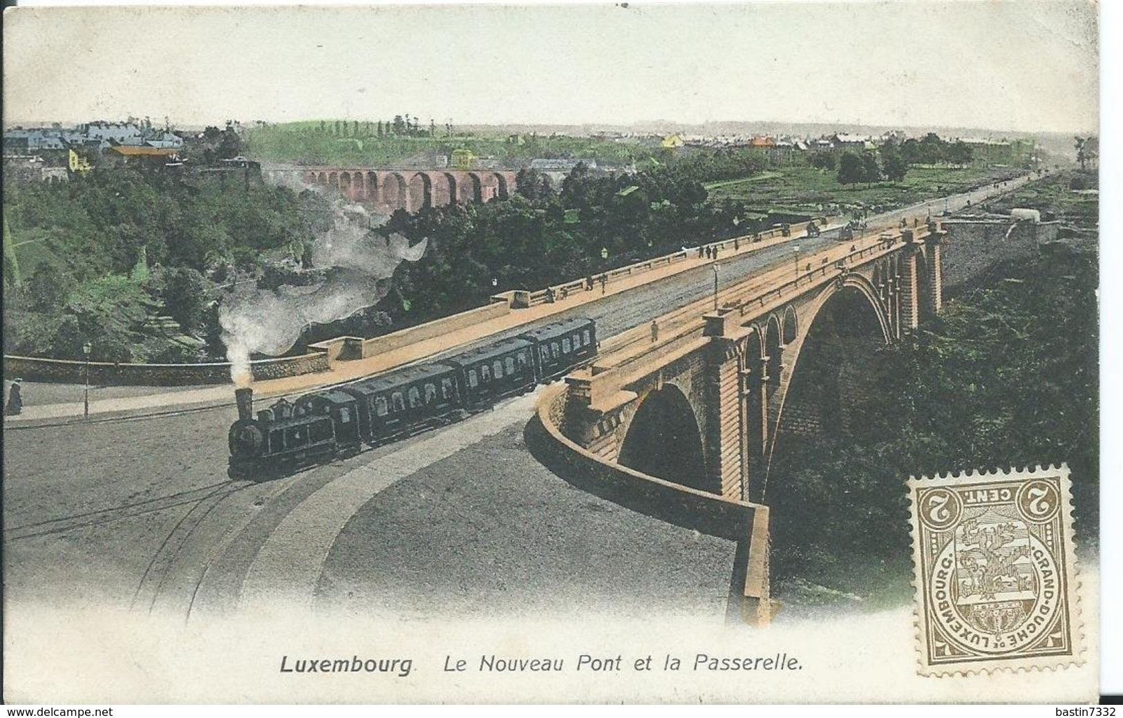 Luxembourg,Le Nouveau Pont Et La Passerelle 1908 - Luxemburg - Stad