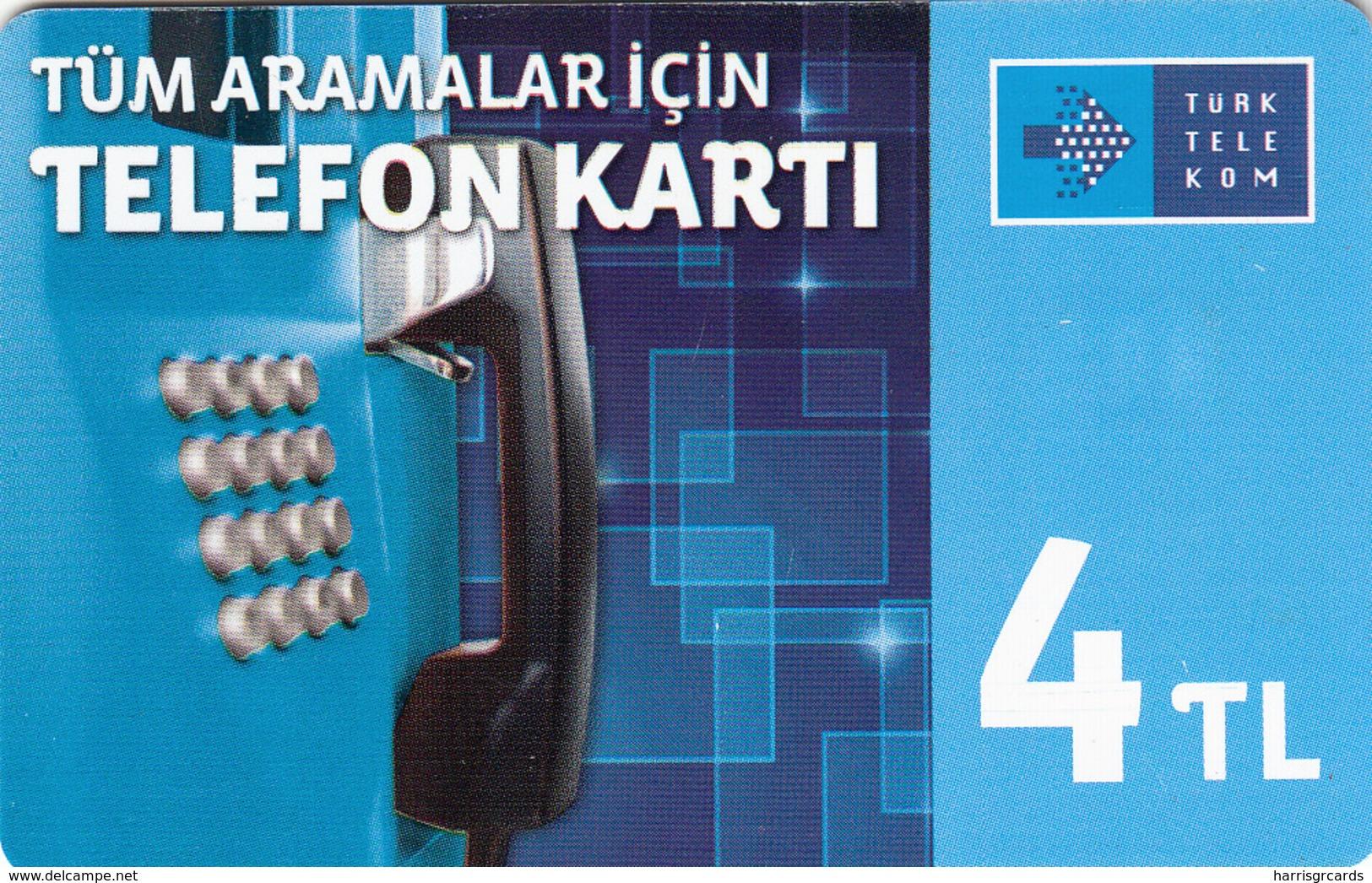 TURKEY - Tüm Aramalar İçin Arama Kartı , Kasım 2014, Gemplus - GEM5 (Red) , 4 ₤ - Turkish Lira ,06/12, Used - Turquia