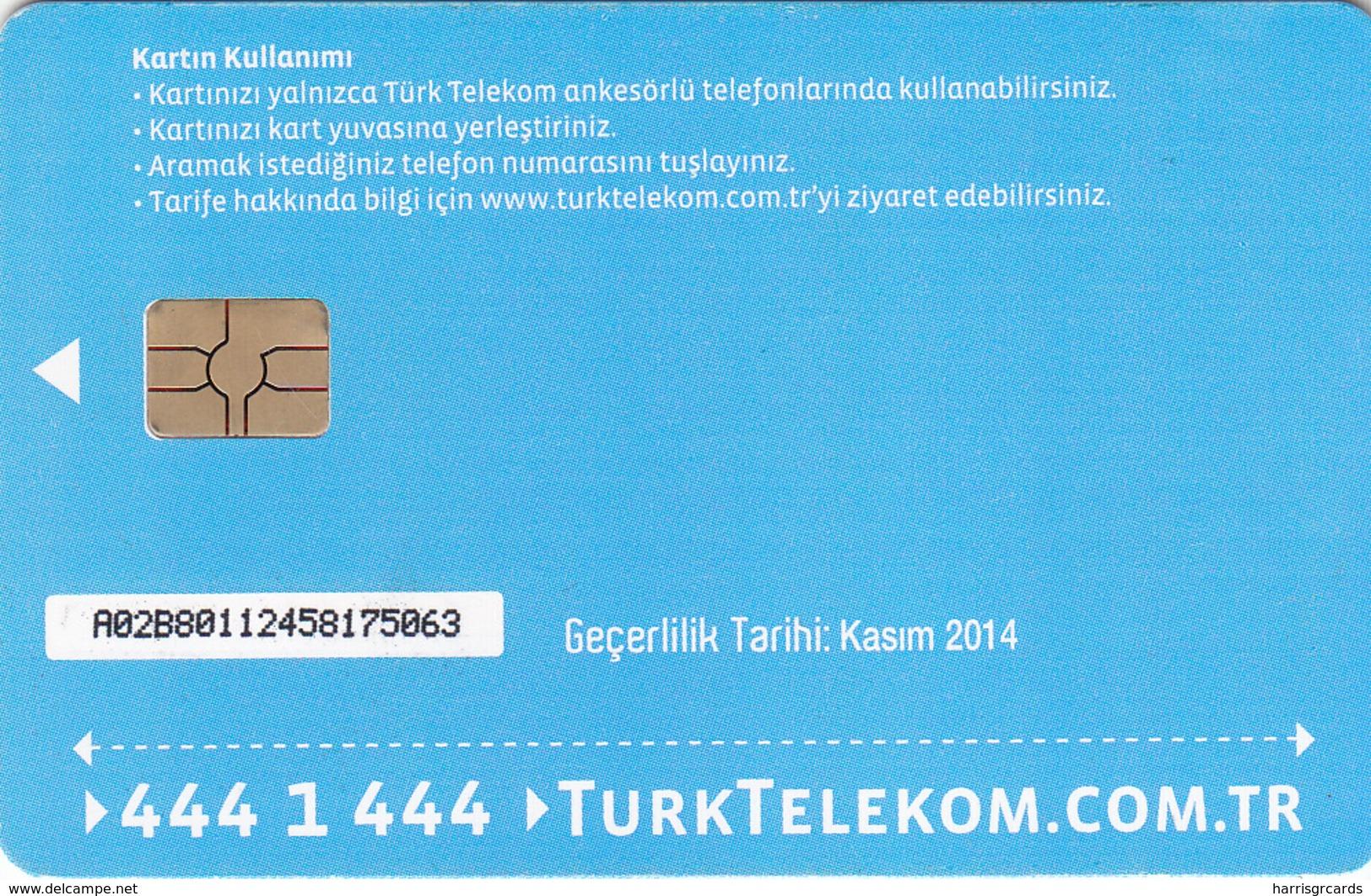 TURKEY - Tüm Aramalar İçin Arama Kartı , Kasım 2014, Gemplus - GEM5 (Red) , 4 ₤ - Turkish Lira ,06/12, Used - Turkije