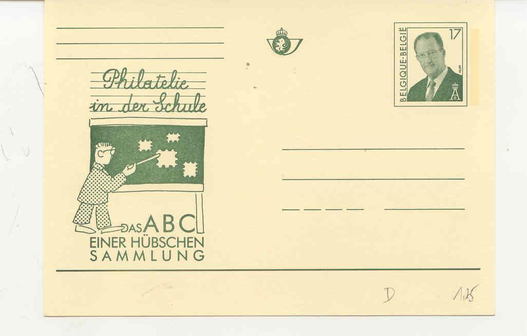 Filatelie In Schoo : Enkel Duitstalig - Stamped Stationery