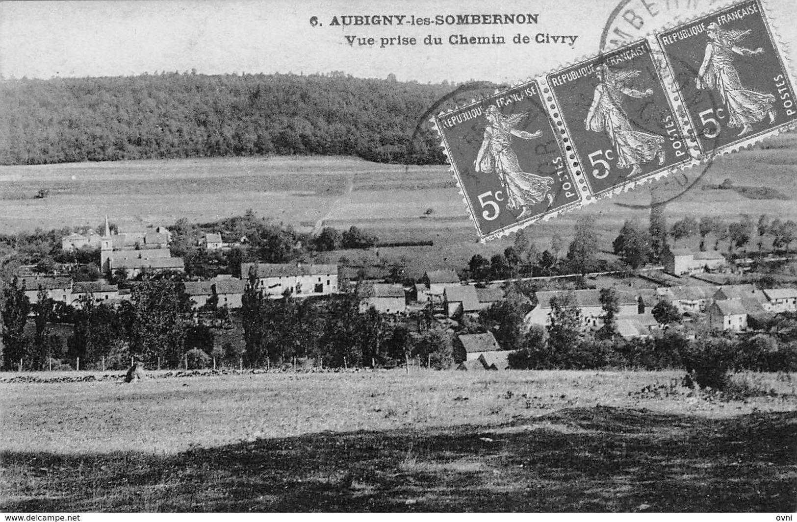 21 - CPA  AUBIGNY LES SOMBERNON Vue Prise Du Chateau De Civry - Frankreich