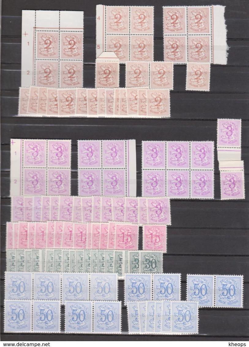 Belgique 1026A/1027B** Accumilation Non Triée - Différents Papiers Et Nuances - Neufs