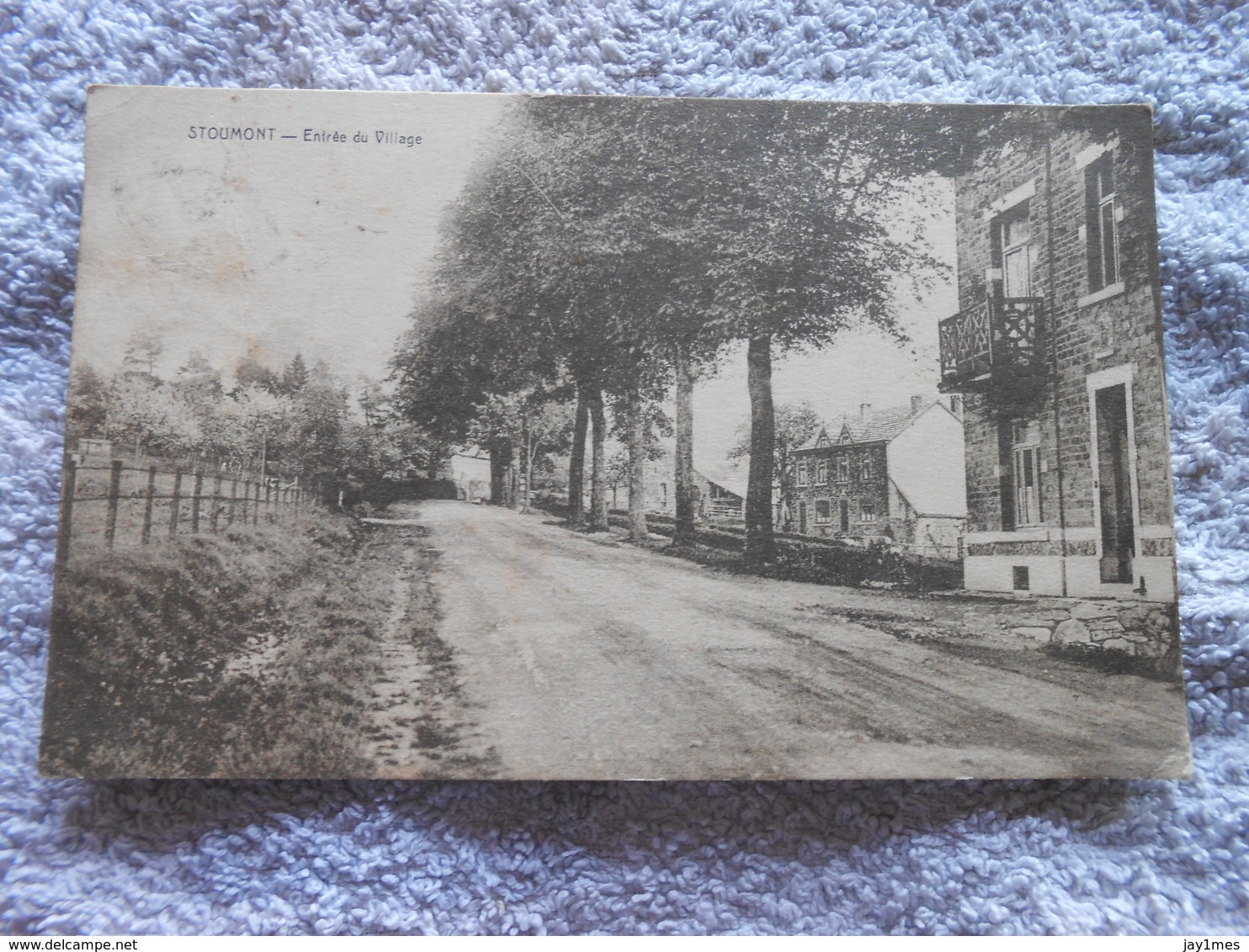 Cpa Stoumont Entree Village 1926 - Stoumont