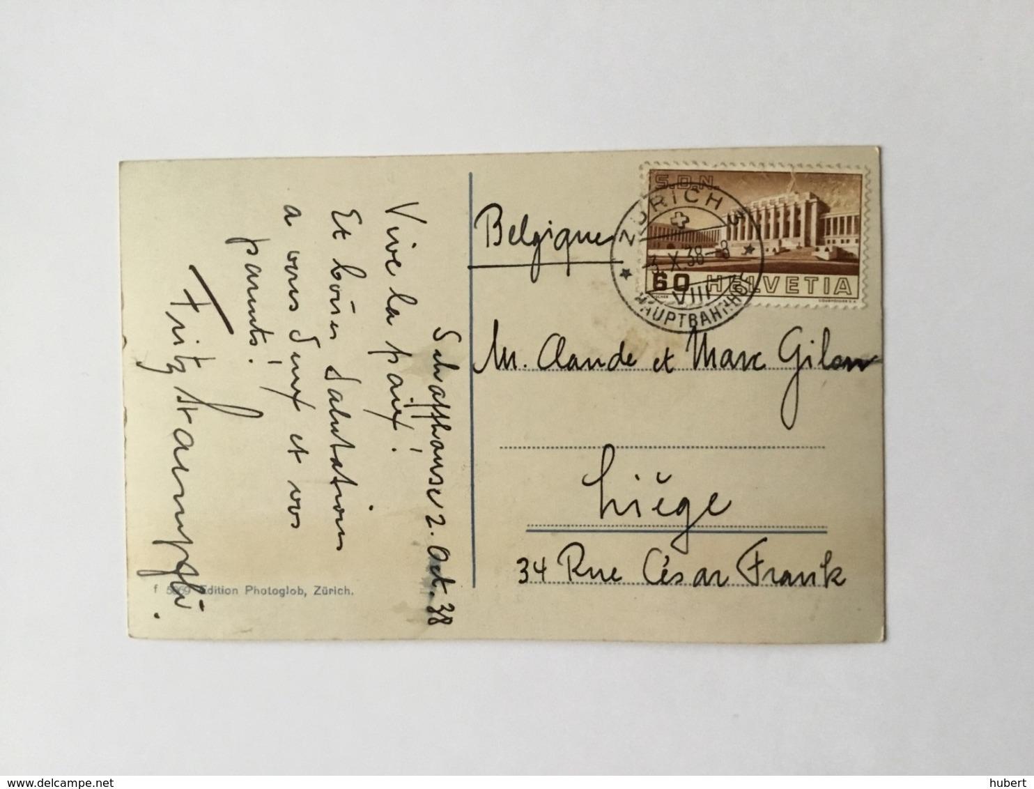 CP De Zurich Vers Liège Avec YT  309-277-295 - Lettres & Documents