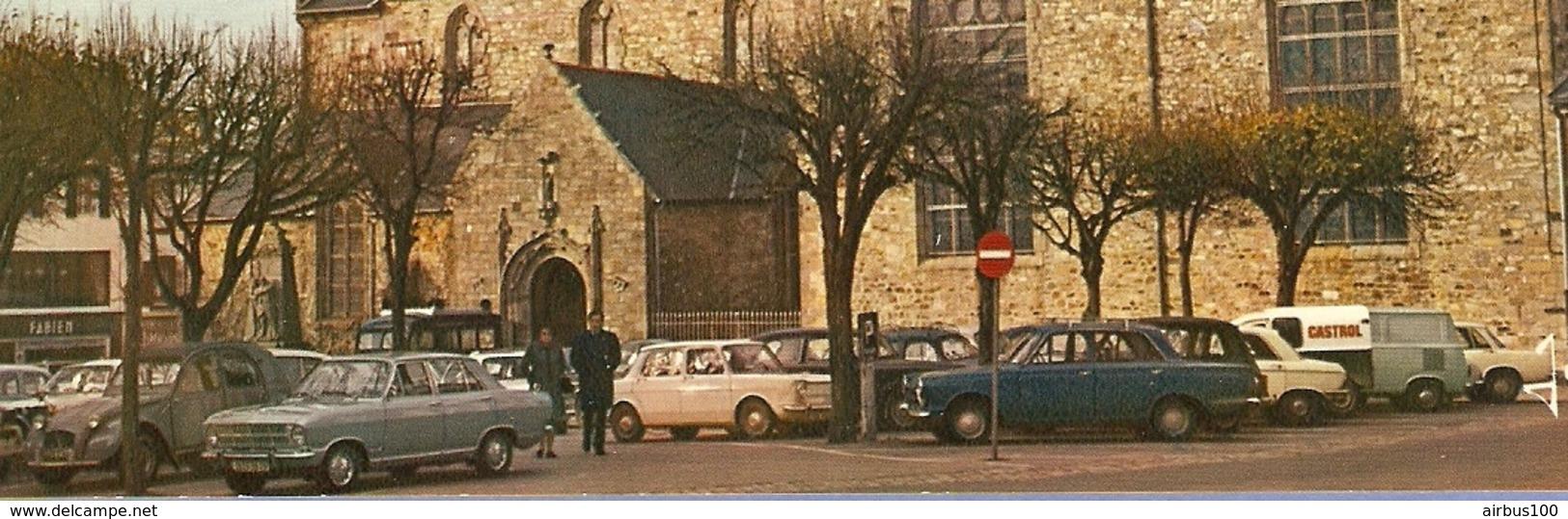 29 - CROZON - L'Église Saint Pierre - Ford - Opel - Simca 1000 - Citroën 2 CV 2 Chevaux Camionnette Castrol - 2 Scans - - Passenger Cars