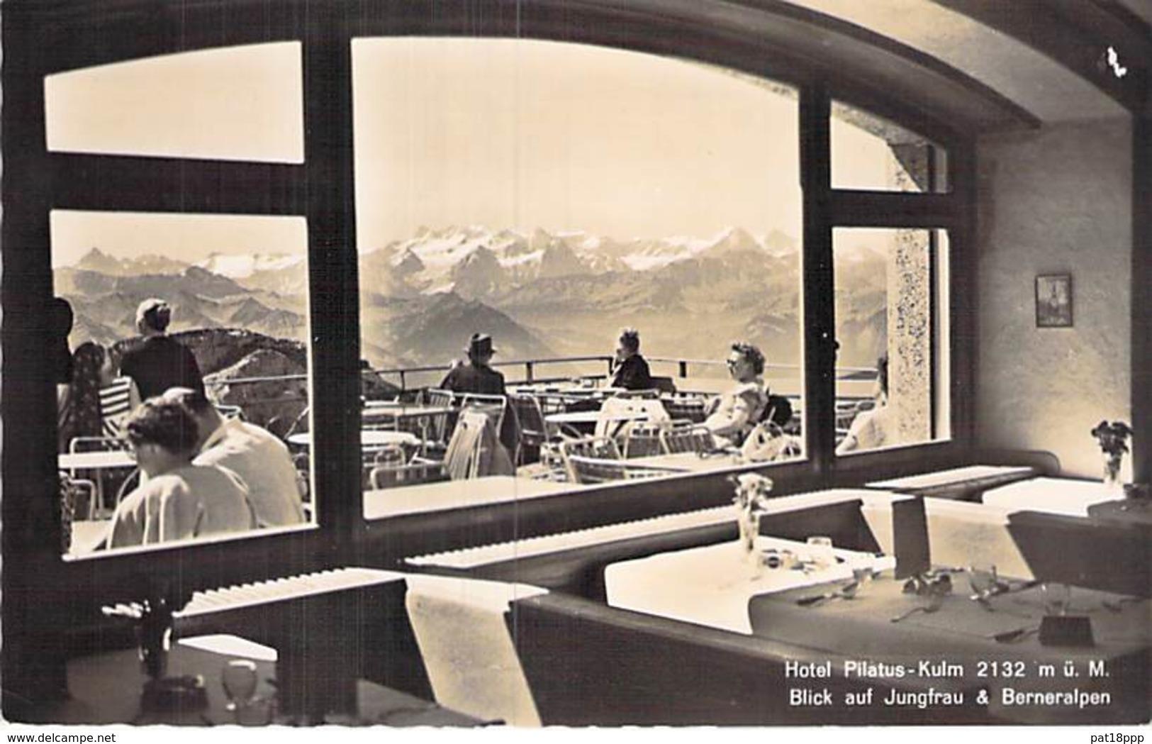 SUISSE Swiss ( LU Lucerne ) Hotel PILATUS-KULM - Blick Auf Jaungfrau & Berneralpen - CPSM PF - Switzerland Schweiz - LU Luzern