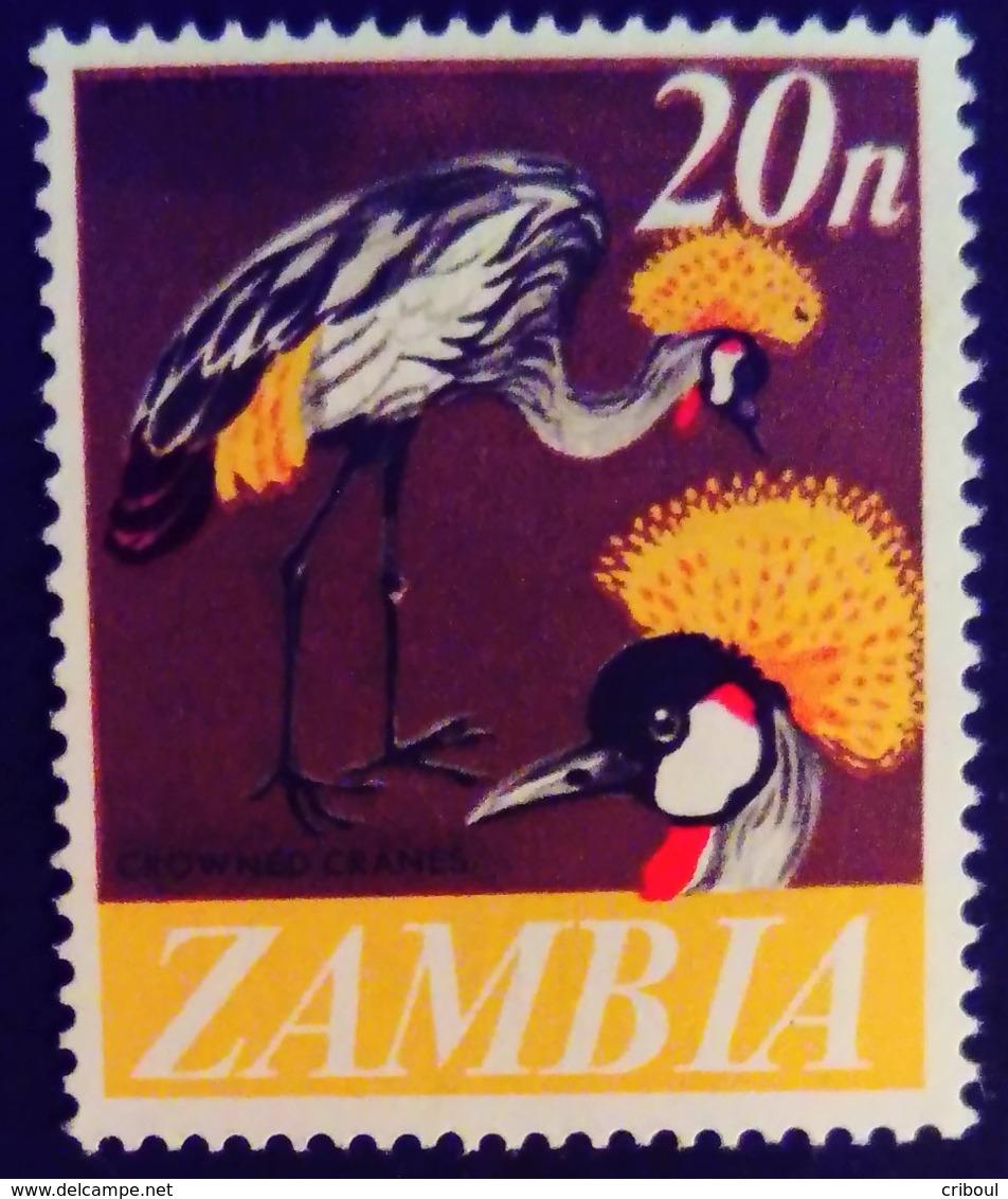 Zambie Zambia 1968 Animal Oiseau Bird Grue Crane Yvert 46 ** MNH - Zambia (1965-...)